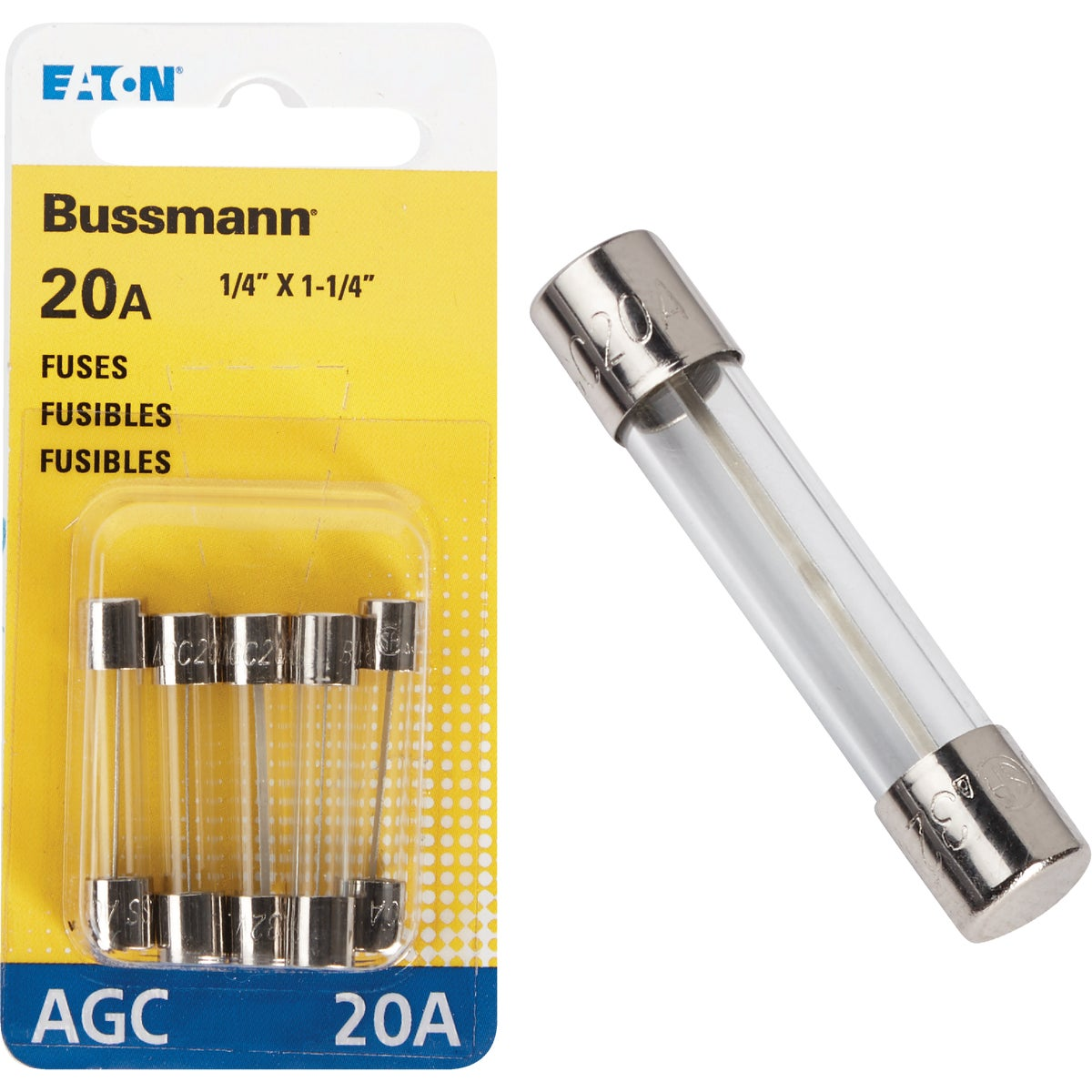 20AMP FUSE - BP/AGC-20-RP by Bussmann Cooper
