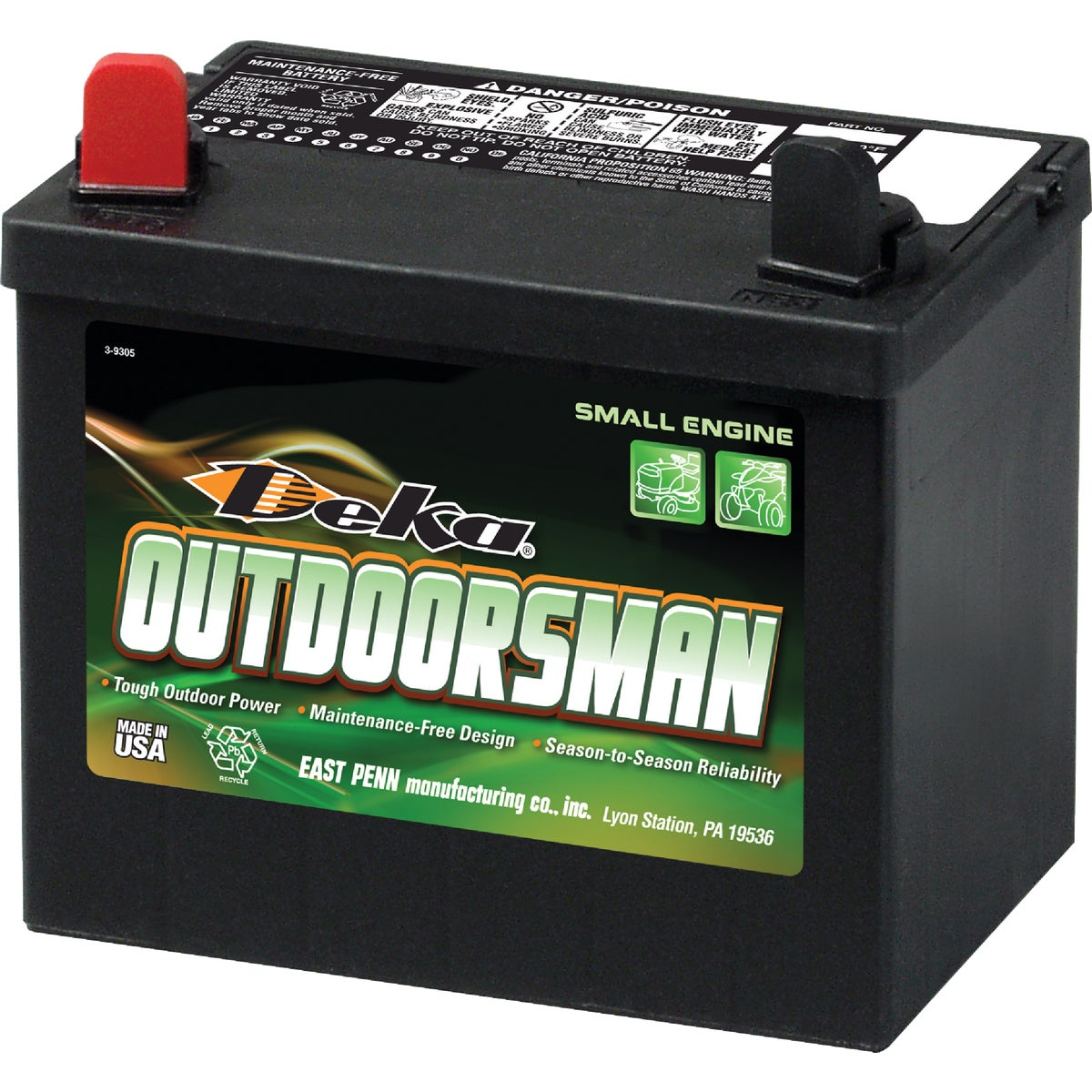 Deka Outdoorsman Small Engine Battery, 10U1L