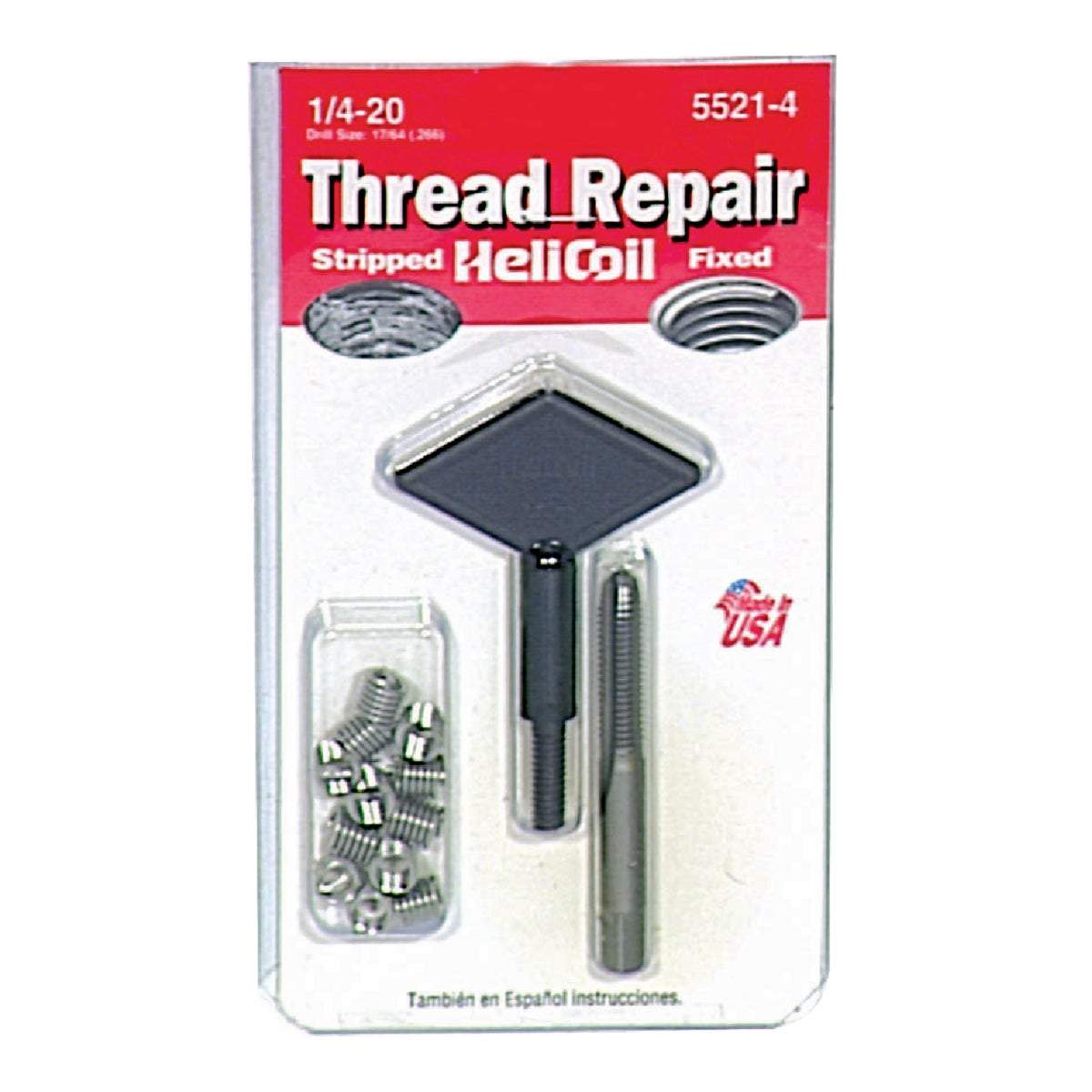 1/4X20 THREAD REPAIR KIT - 5521-4 by Helicoil Div Emhart