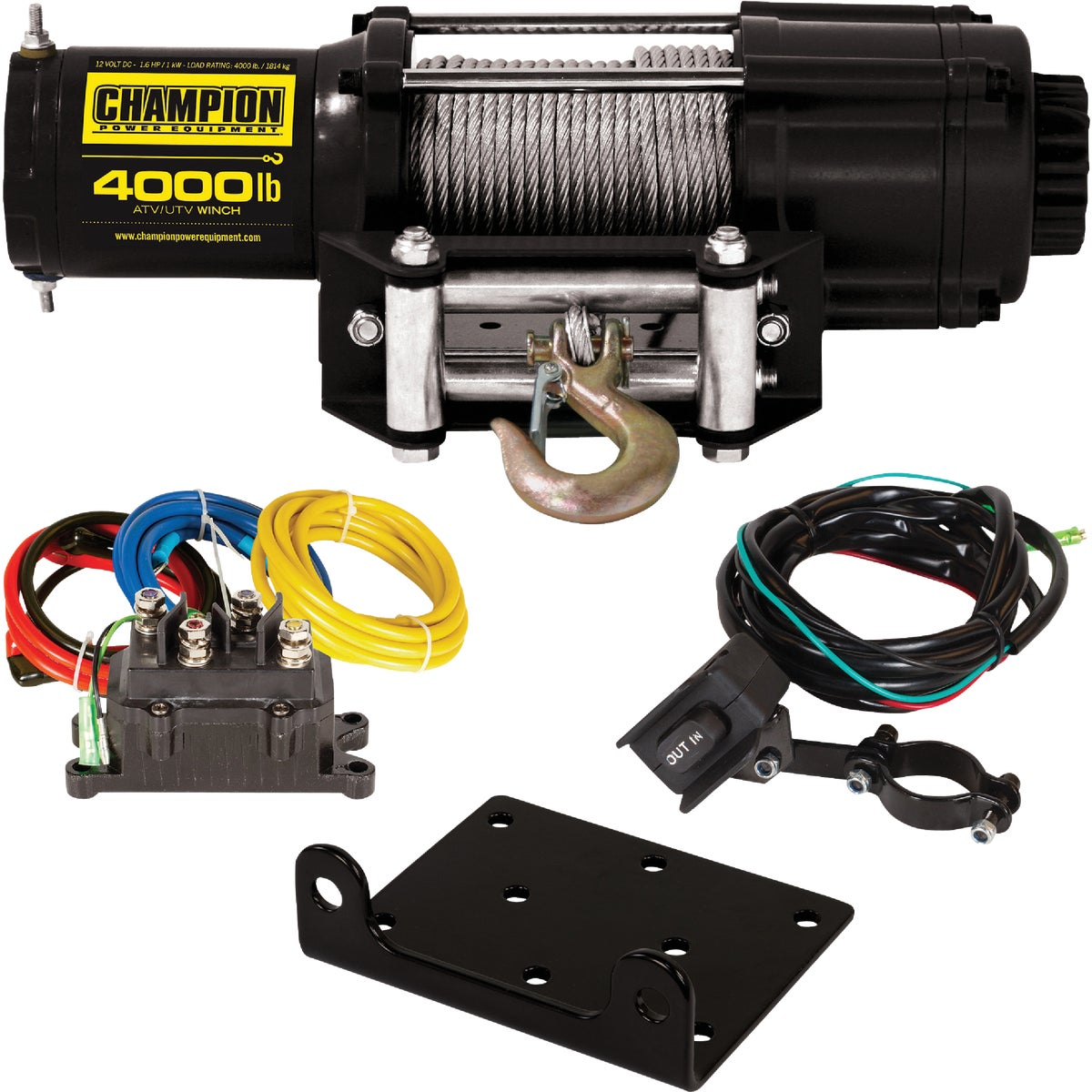 12V DC 3700LB WINCH - 93700 by Warn Industries