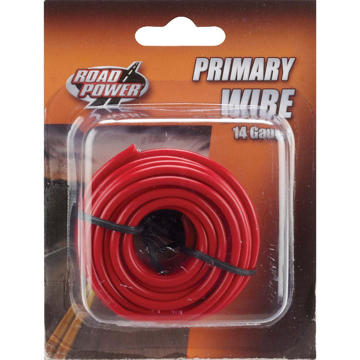 17' 14GA RED AUTO WIRE - 14-1-16 by Woods Wire Coleman