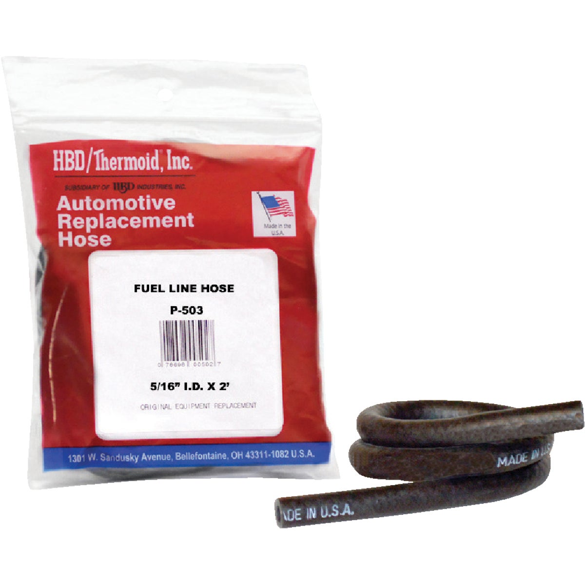 "5/16""X2' FUEL LINE HOSE - P503 by H B D Industries Inc"