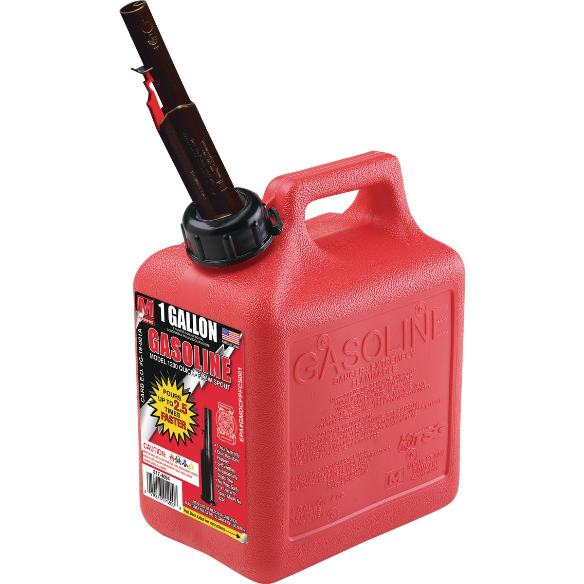 1+ GALLON GAS CAN - 85013 by Plastics Group