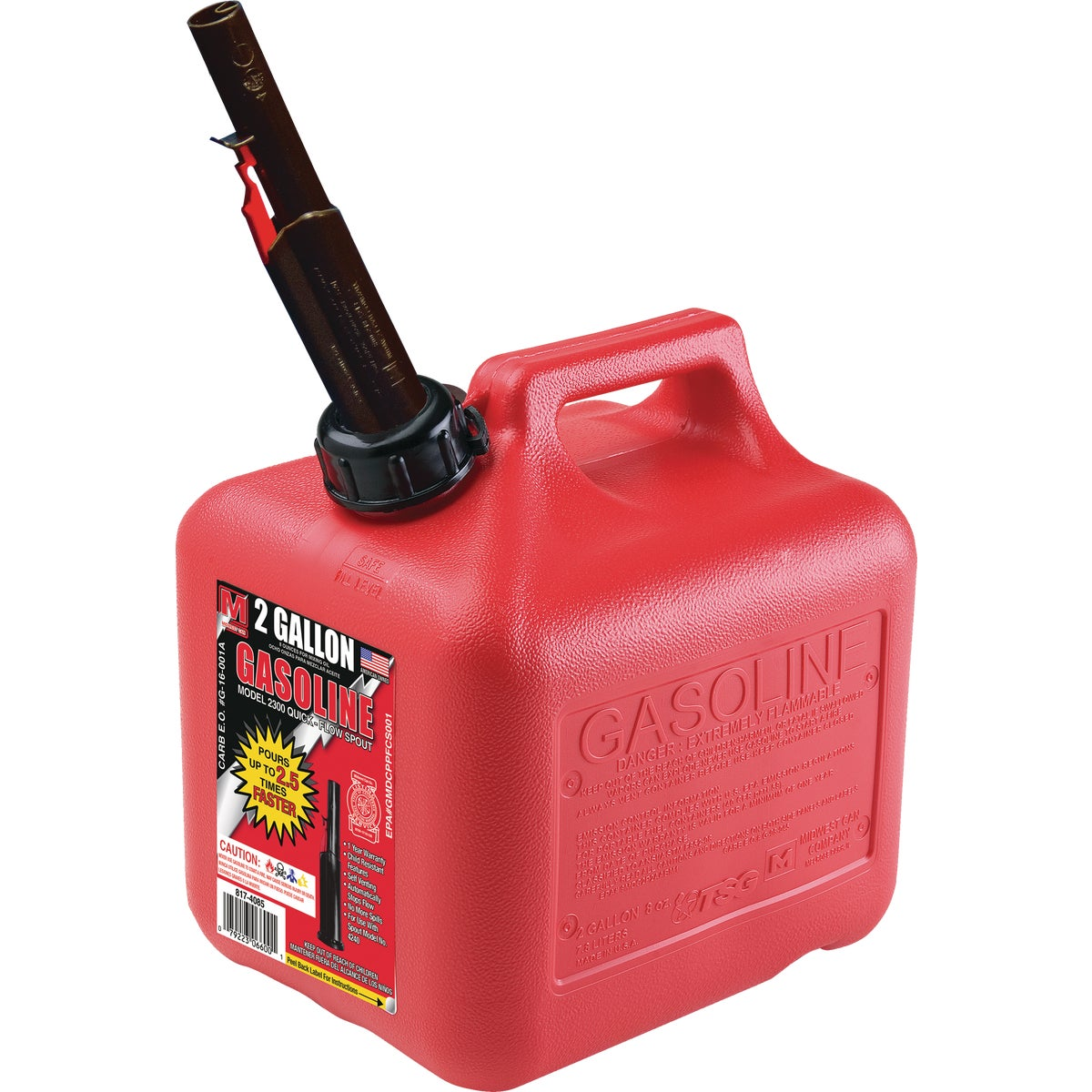 2+ GALLON GAS CAN - 85023 by Plastics Group