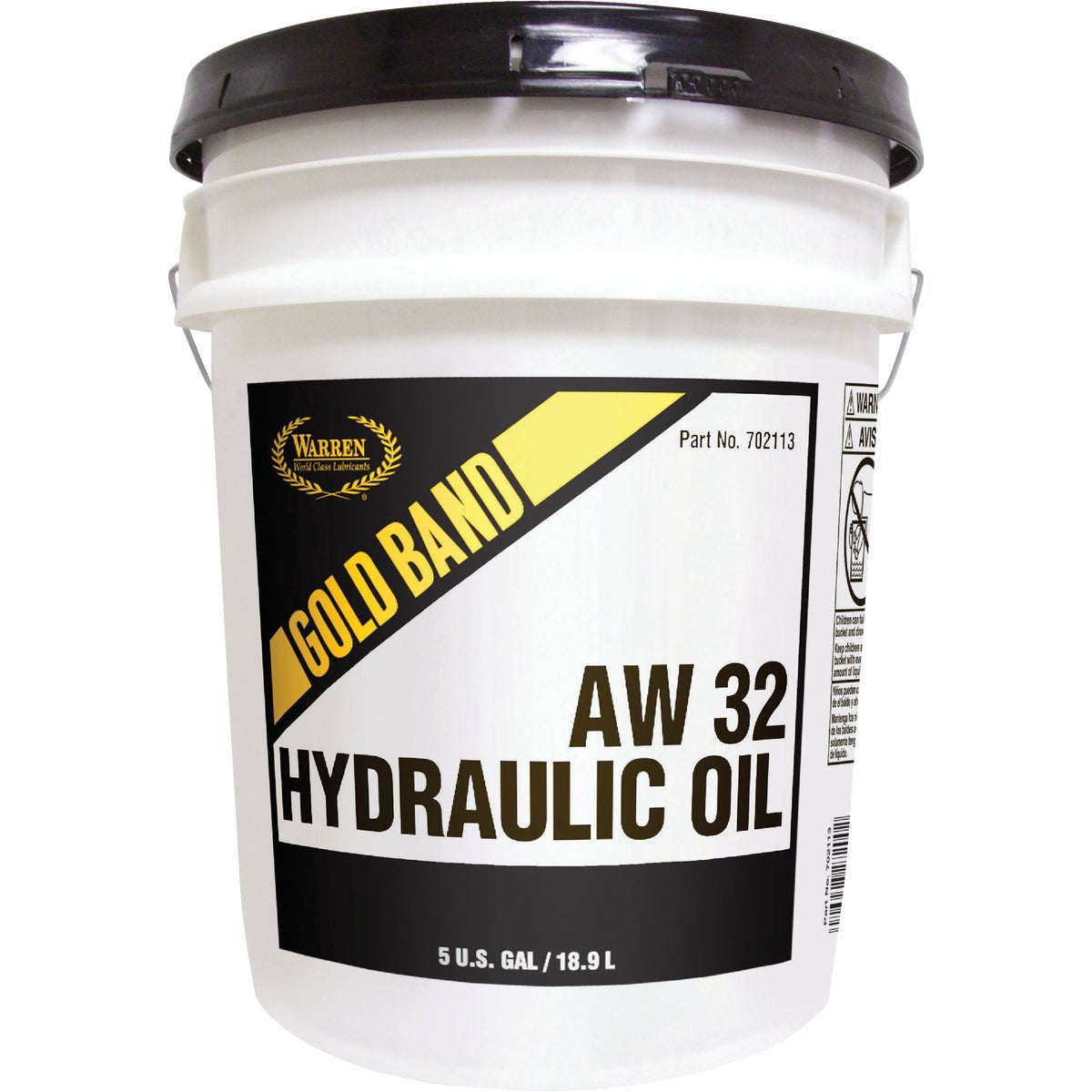 5GAL AW32 HYDRAULIC OIL - 2113 by Warren Oil Co Inc