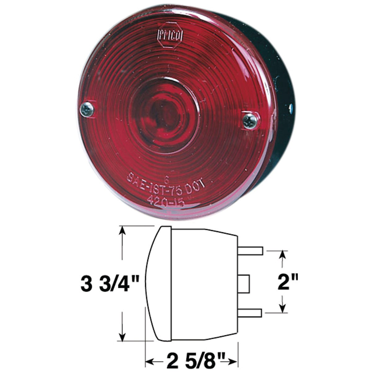 STOP & TAIL LIGHT - V428W by Peterson Mfg Co