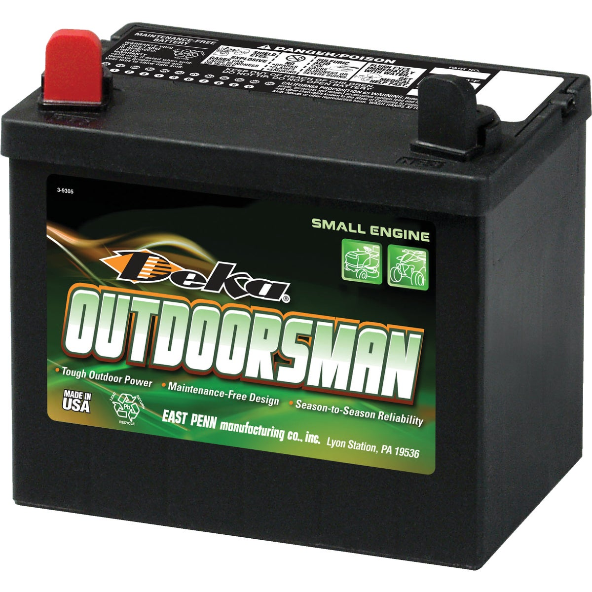 Deka Outdoorsman Small Engine Battery, 8U1L