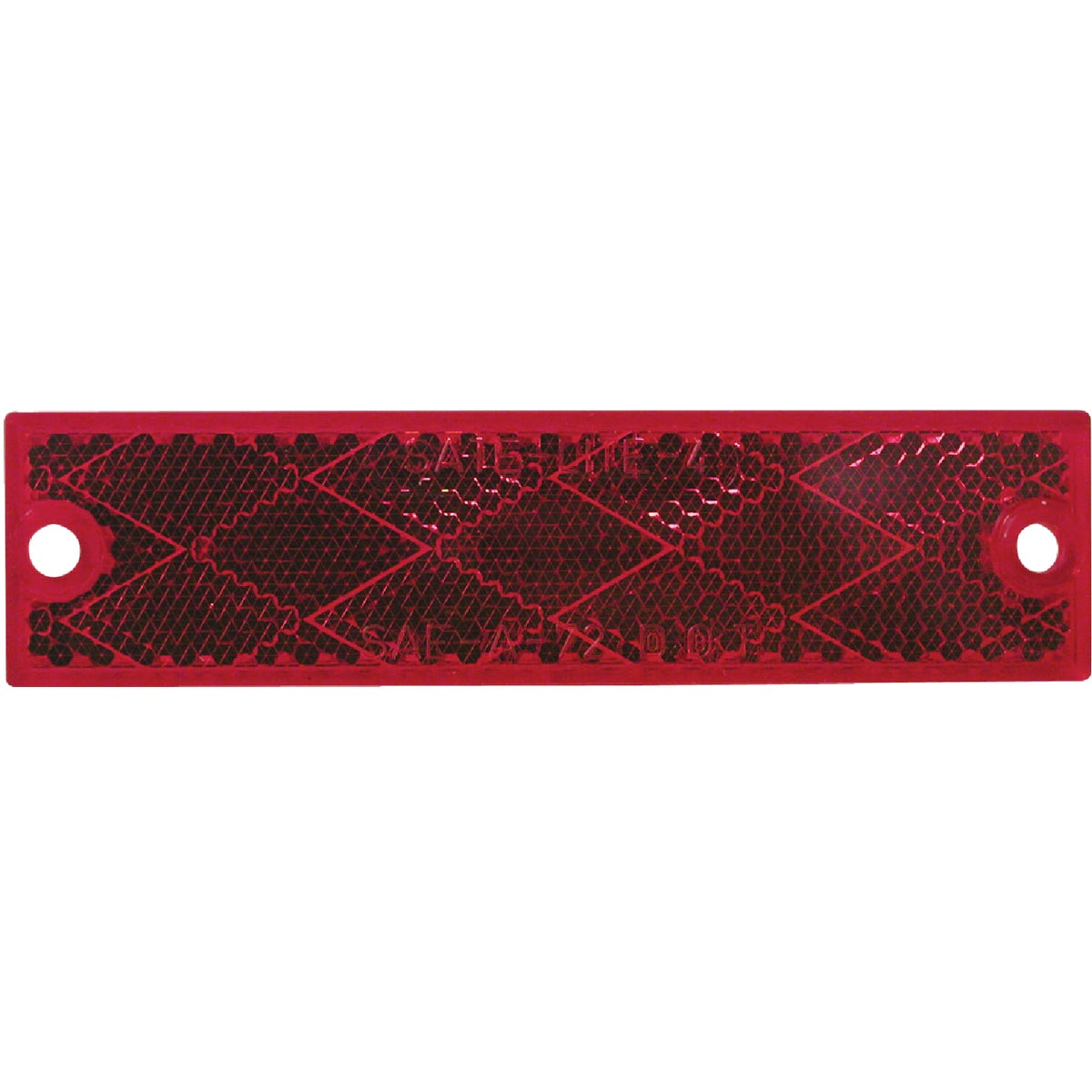 RED RECT REFLECTOR - V487R by Peterson Mfg Co
