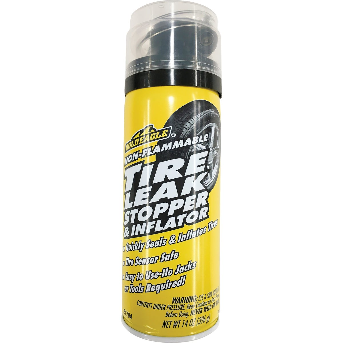 TIRE LEAK STOP/INFLATOR - 21703 by Gold Eagle Mfg