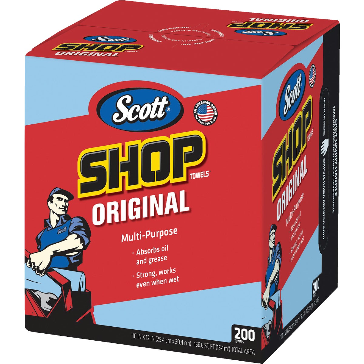 200CT BOX SHOP TOWEL - 75190 by Kimberly Clark Scott