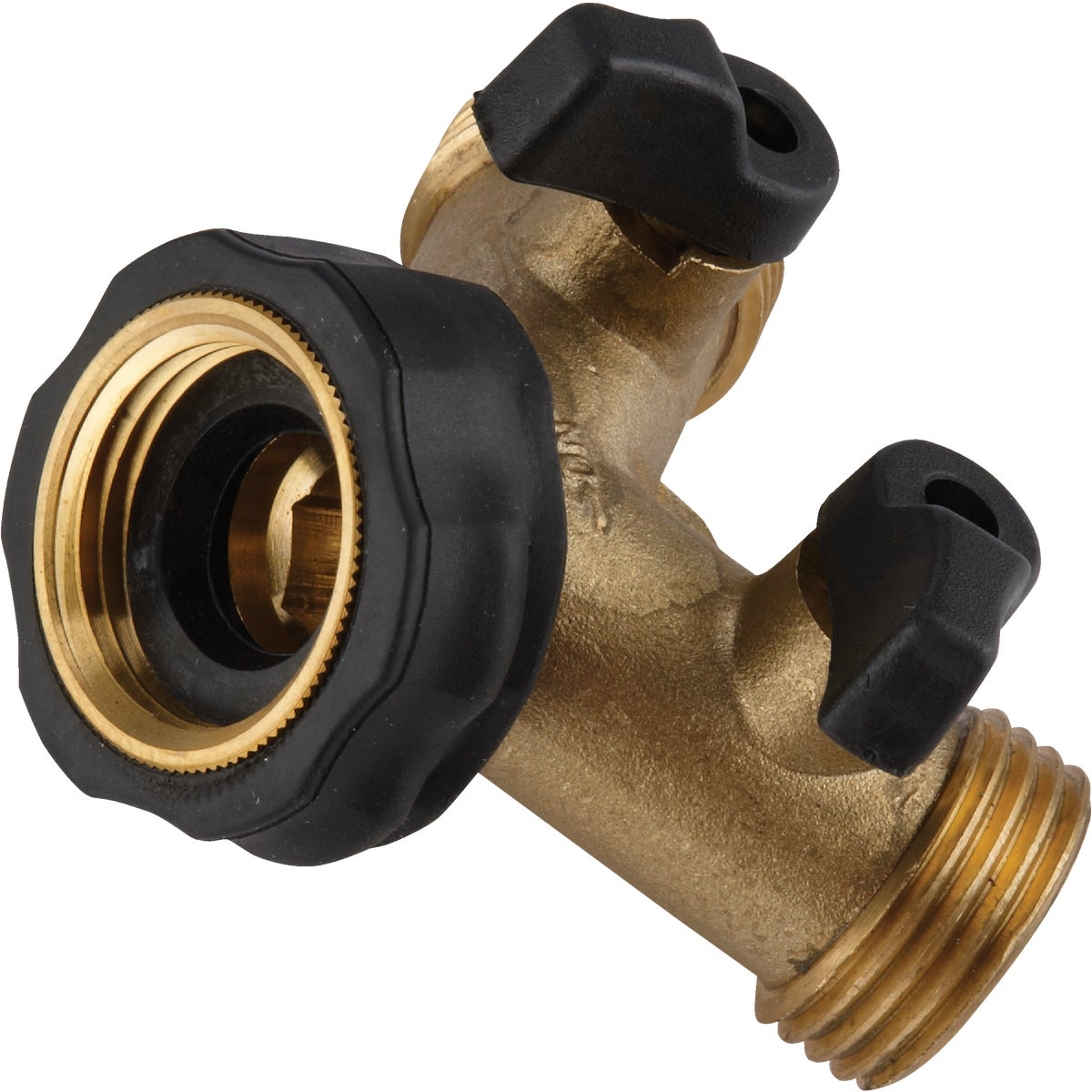 BRASS SHUT OFF Y-VALVE - 20123 by Camco Mfg.