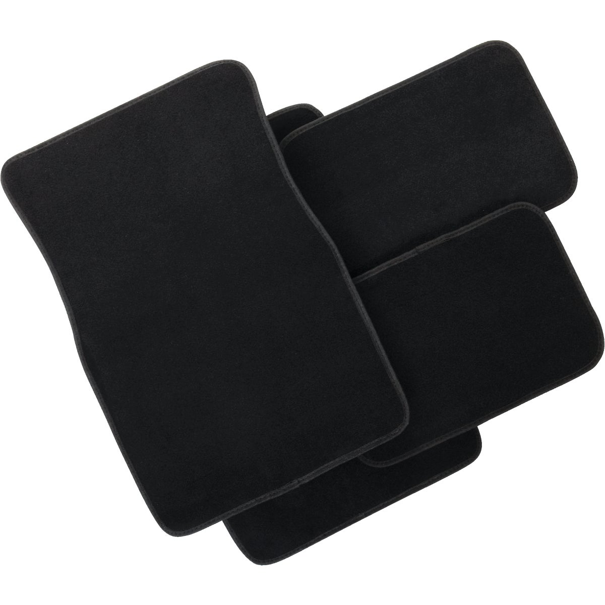 4PC BLK CARPET FLOOR MAT