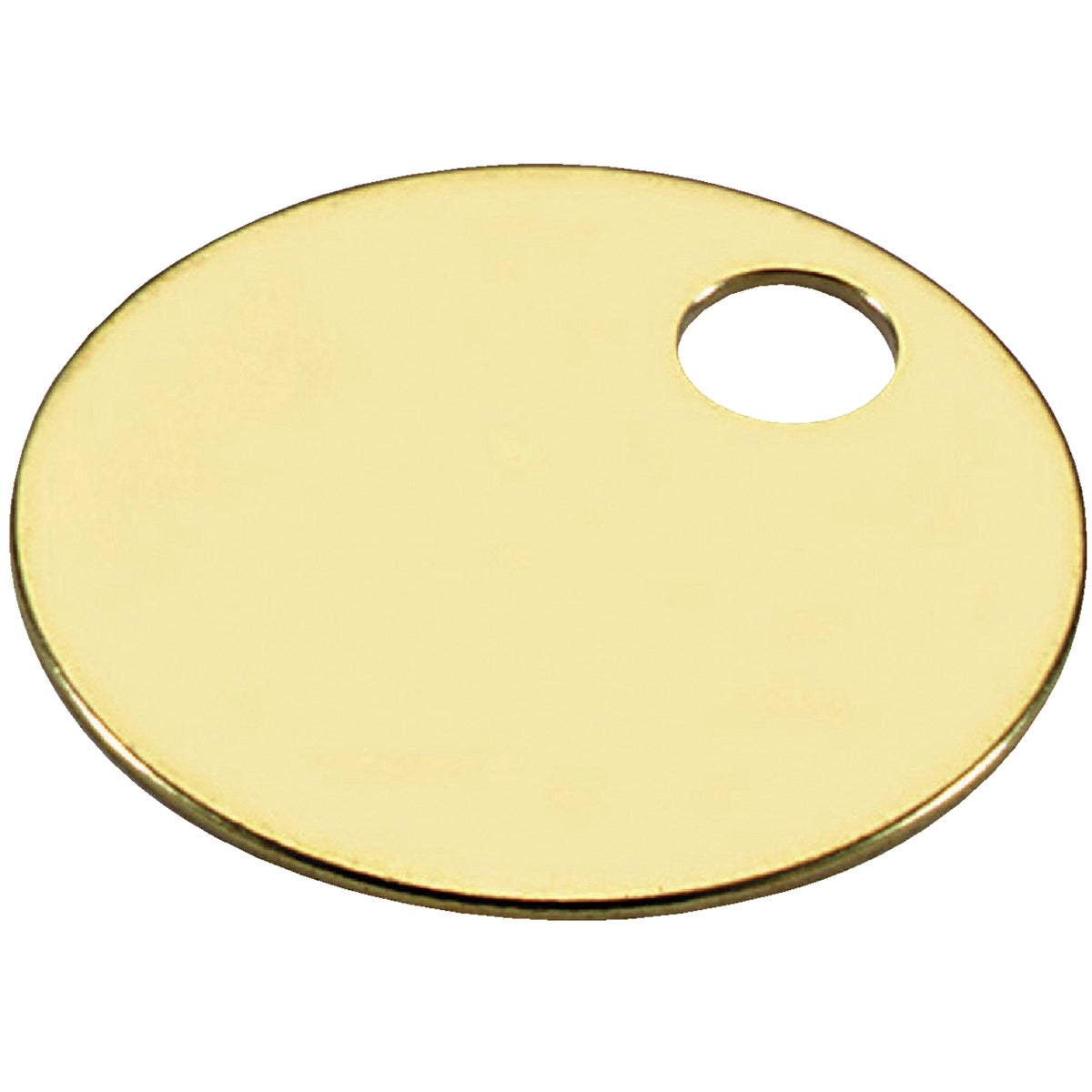 "100PC 1-3/8"" BRASS TAG - 26013 by Lucky Line Prod Inc"
