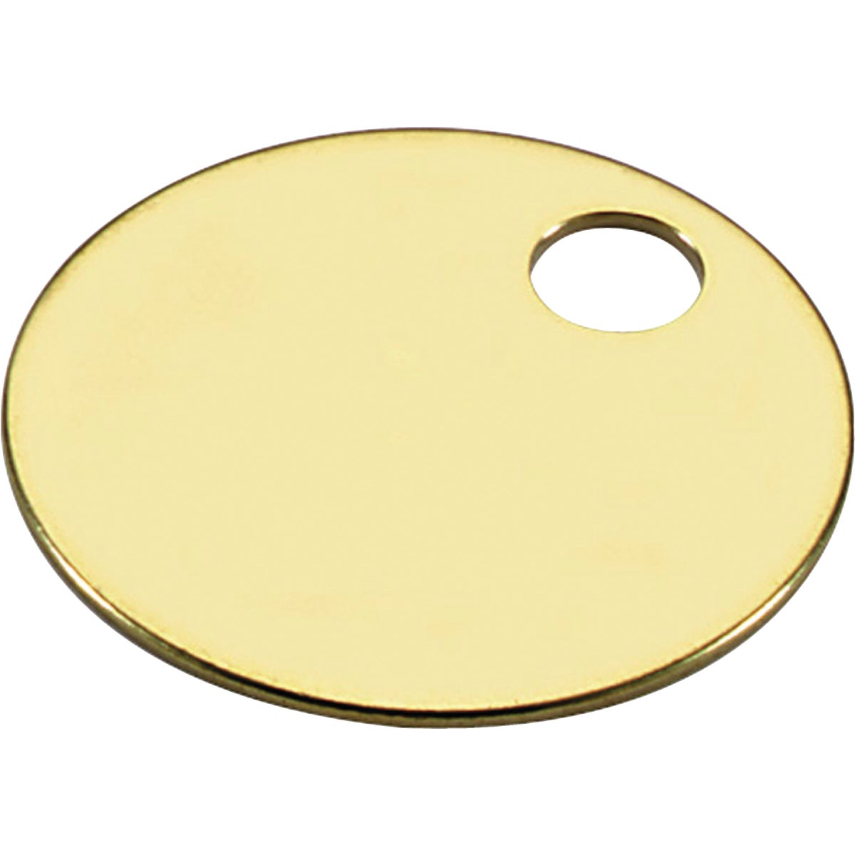 "100PC 1-1/4"" BRASS TAG - 26012 by Lucky Line Prod Inc"