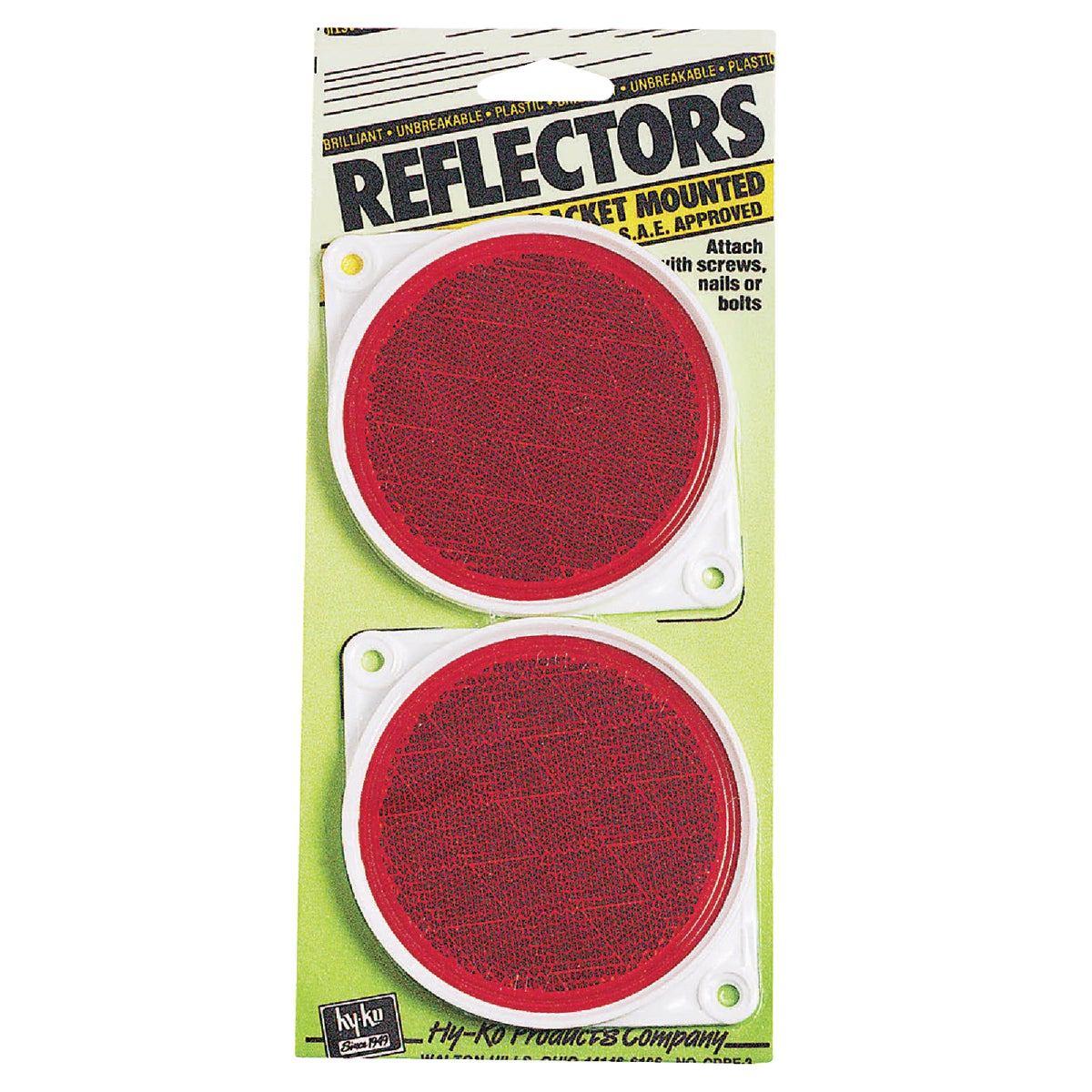 NAIL ON RED REFLECTORS - CDRF-3R by Hy Ko Prods Co