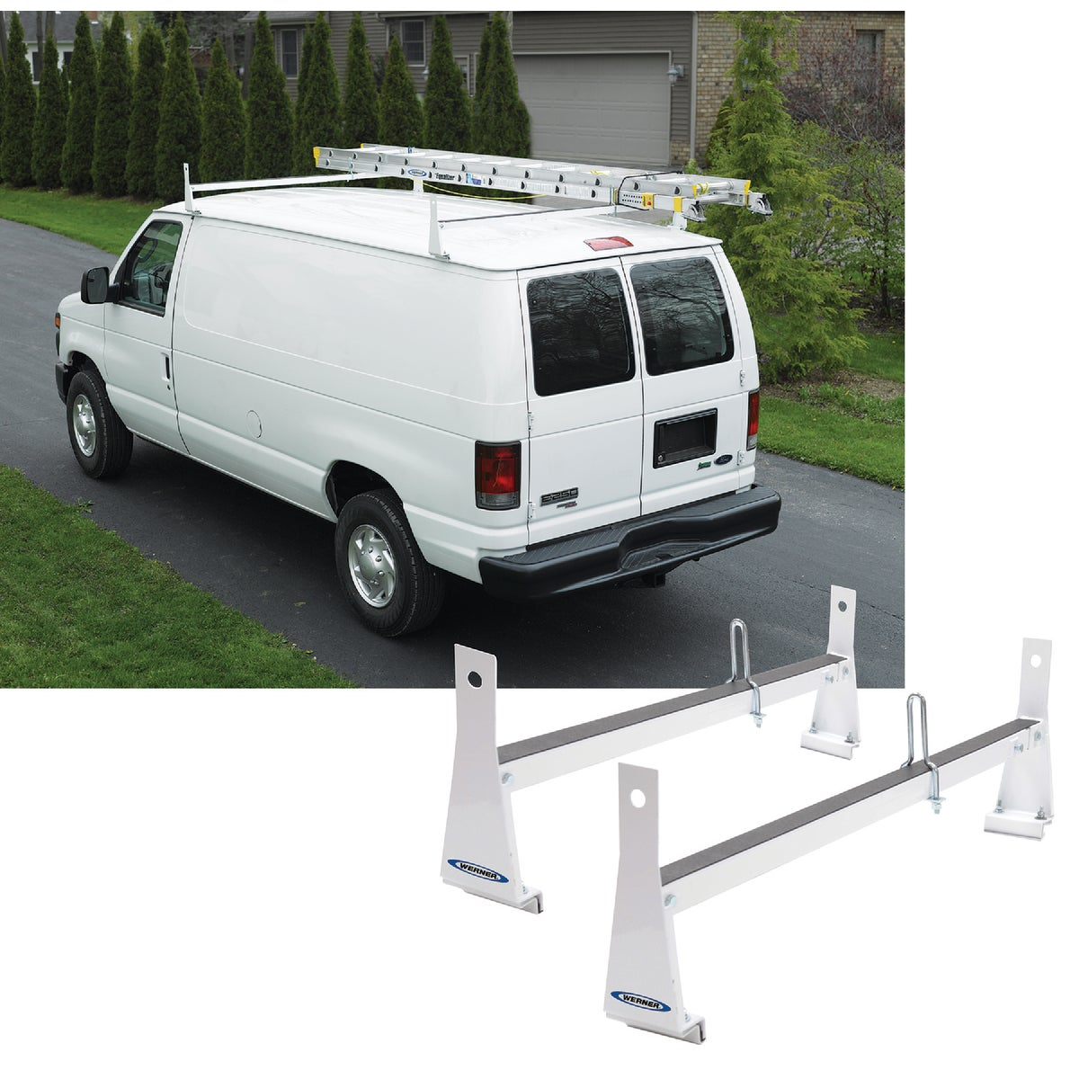 600LB WHITE VAN RACK