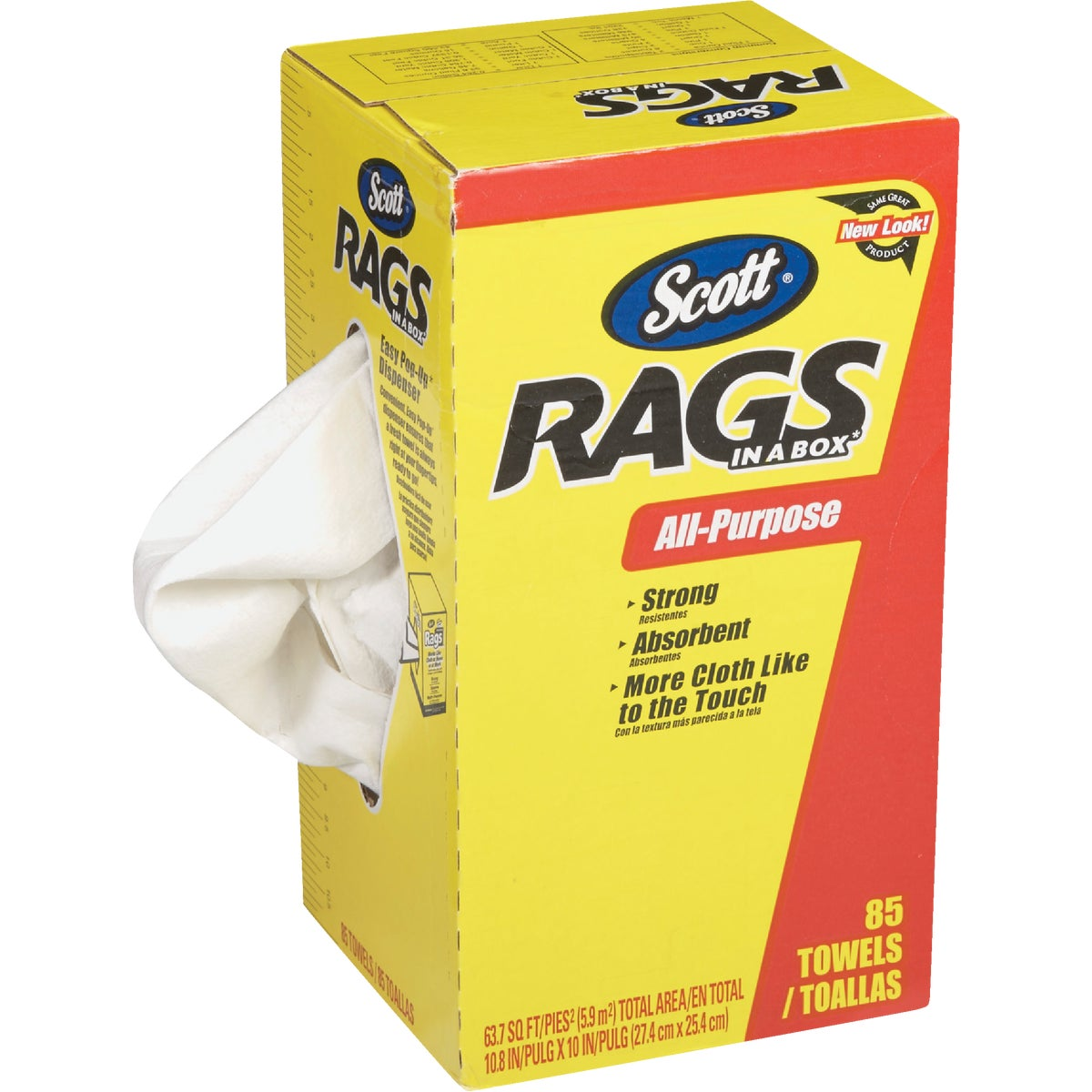 85CT BOX WHITE RAGS - 75240 by Kimberly Clark Scott
