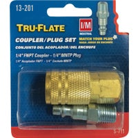 Plews/Lubrimatic COUPLER & NIPPLE SET 13-201