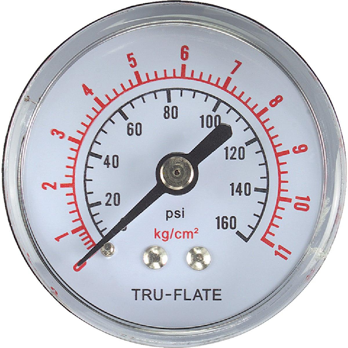 """1/4""""NPT PRESSURE GAUGE - 24-803 by Plews  Lubrimatic"""