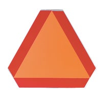 Safety Vehicle Emblem Slow Moving Vehicle Emblem, S276.7 SMV ALUMINUM