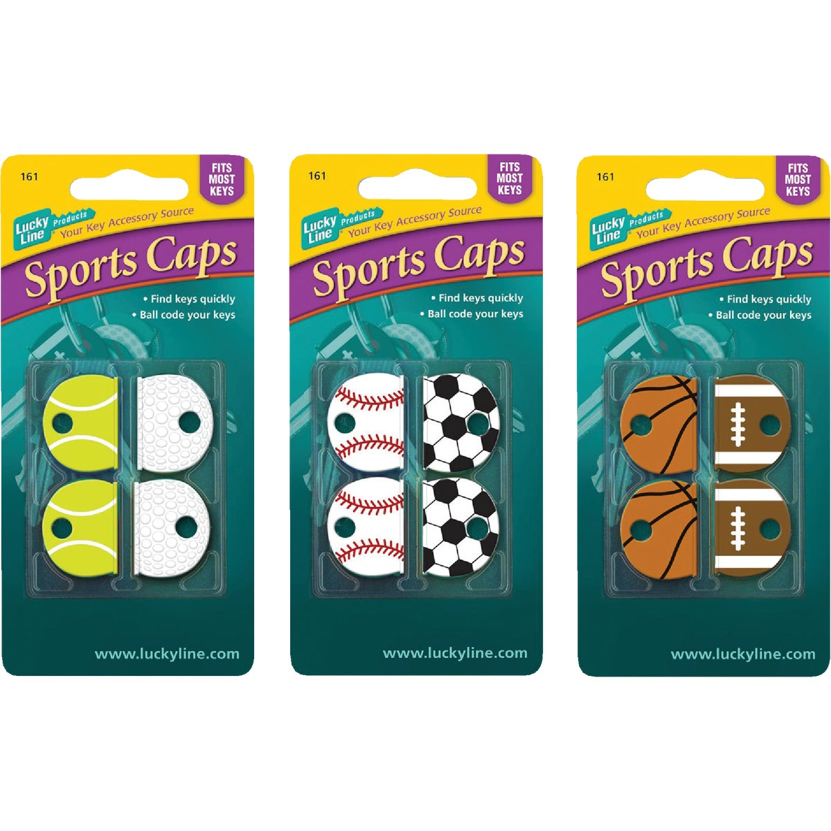 4 COUNT CARD SPORTS CAPS - 16104 by Lucky Line Prod Inc