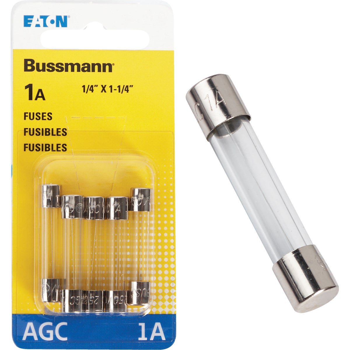 1AMP FUSE - BP/AGC-1-RP by Bussmann Cooper