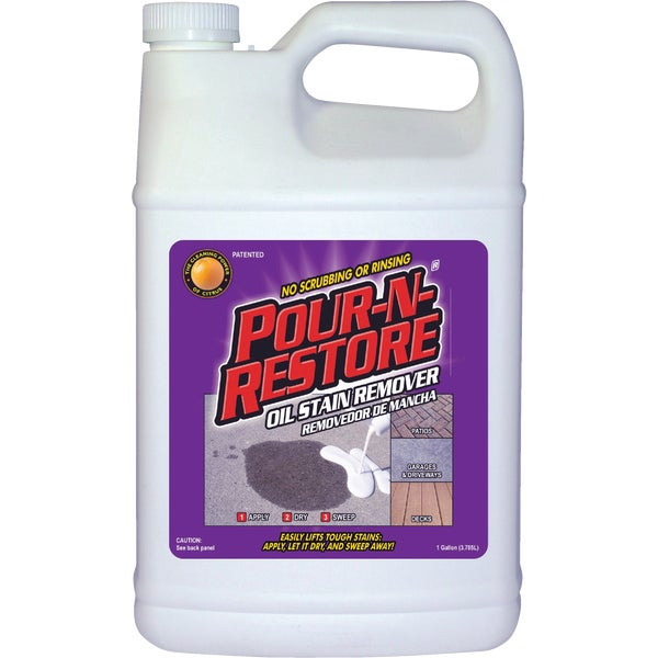 Pour n restore concrete and masonry oil stain remover ebay for Concrete cleaner oil remover