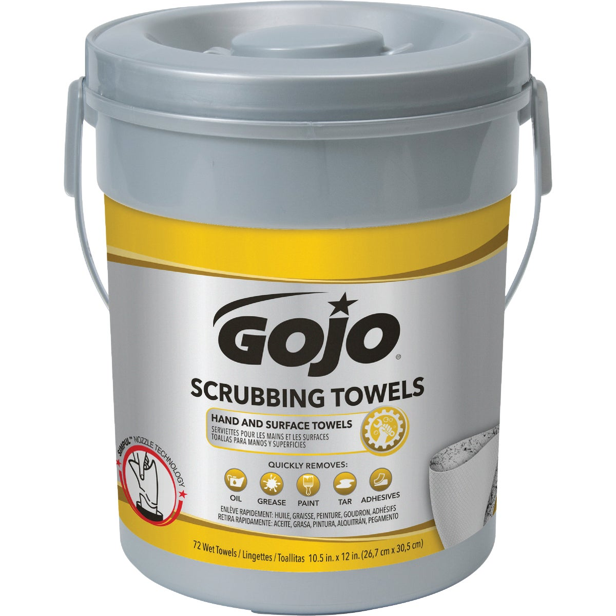 GOJO SCRUB WIPES 72 CT