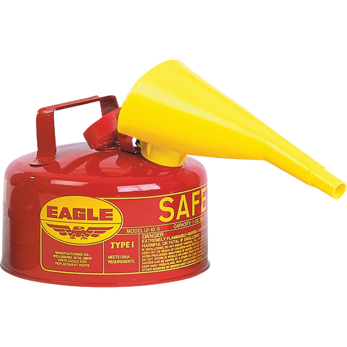 RED 1GAL GAS SAFETY CAN - UI-10-FS by Eagle Mfg Co