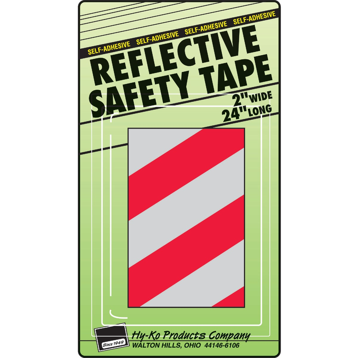 RED/SILV REFLECTIVE TAPE - TAPE-2 by Hy Ko Prods Co