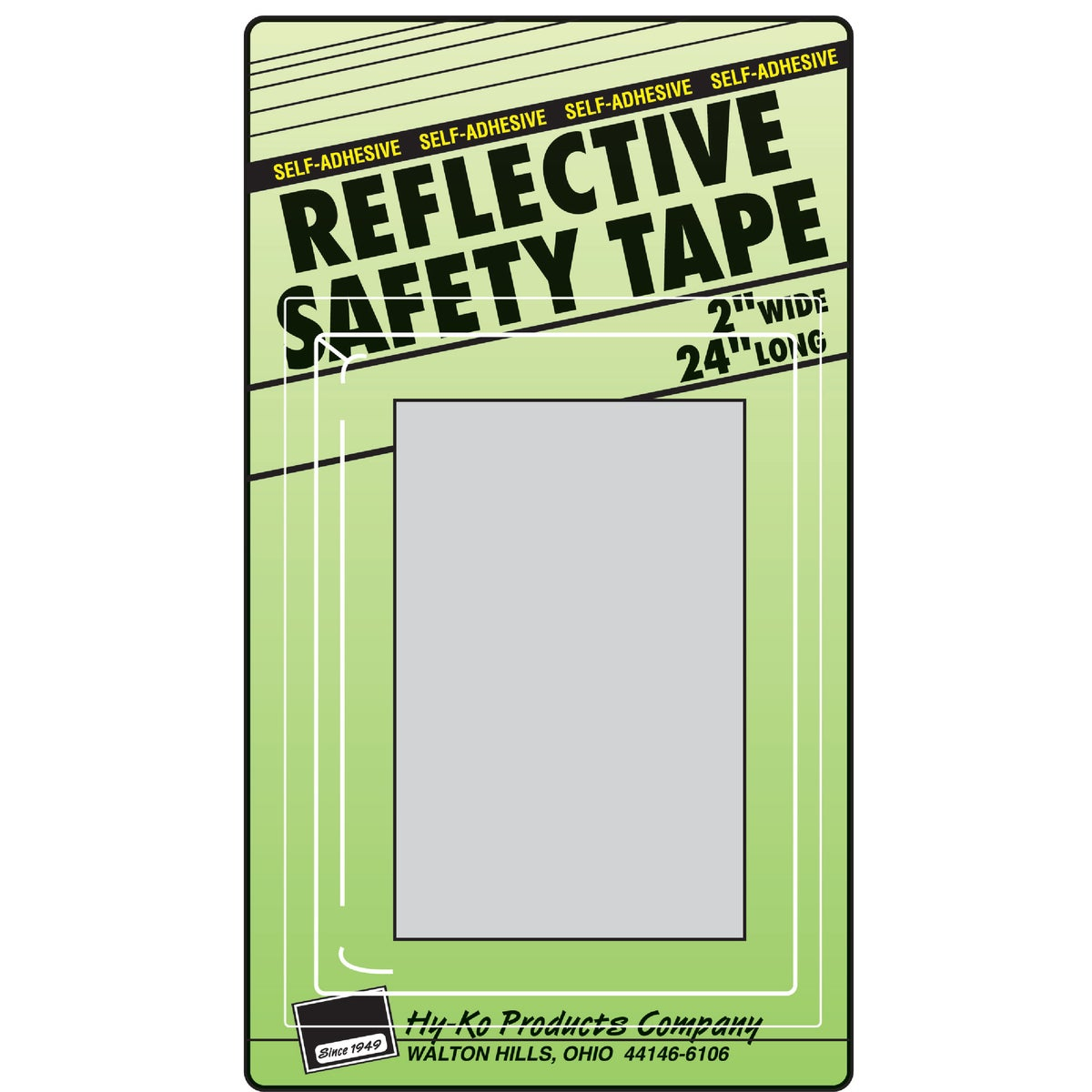 SILVER REFLECTIVE TAPE - TAPE-3 by Hy Ko Prods Co