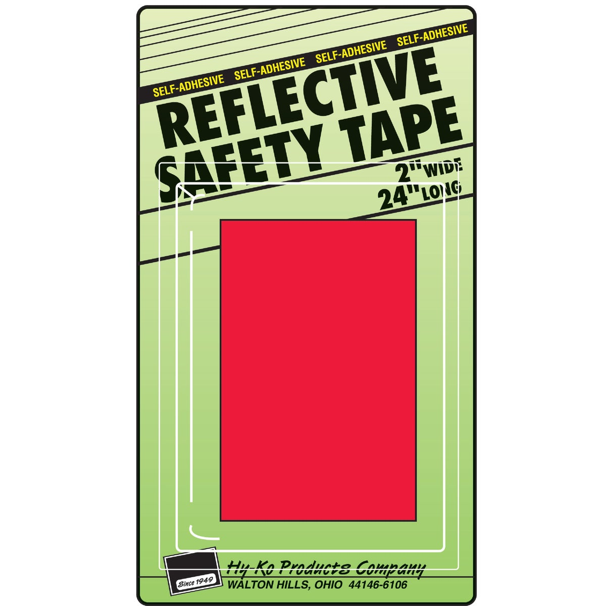RED REFLECTIVE TAPE - TAPE-4 by Hy Ko Prods Co