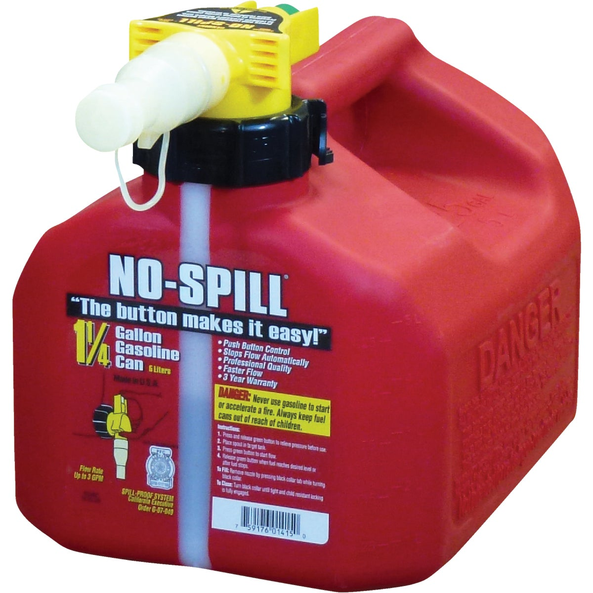 1.25 GAL GAS CAN - 1415 by No Spill Inc