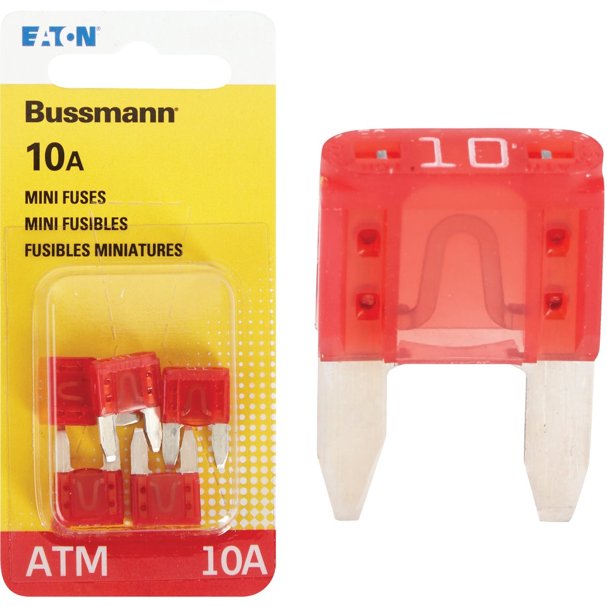 10AMP MINI FUSE - BP/ATM-10-RP by Bussmann Cooper