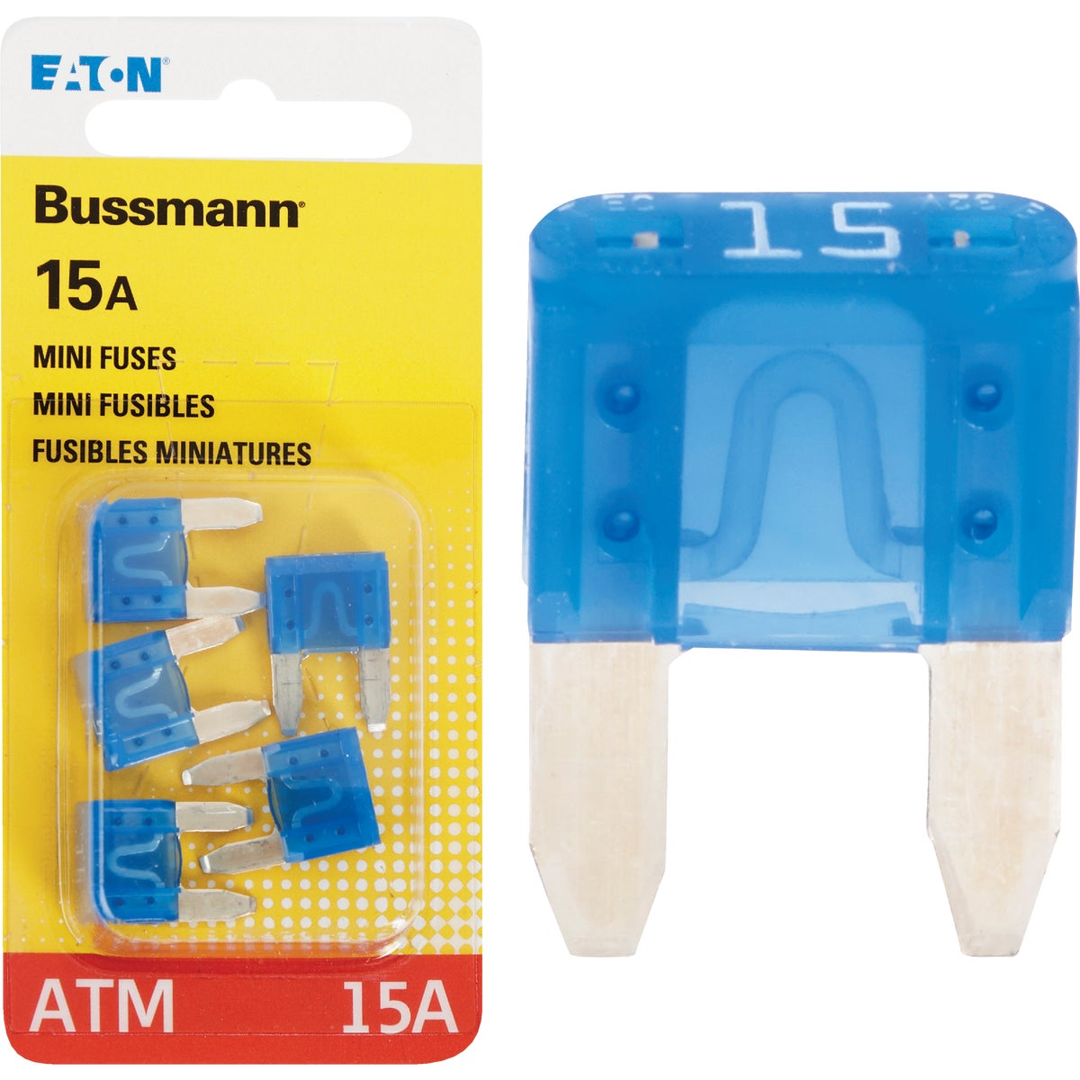 15AMP MINI FUSE - BP/ATM-15-RP by Bussmann Cooper