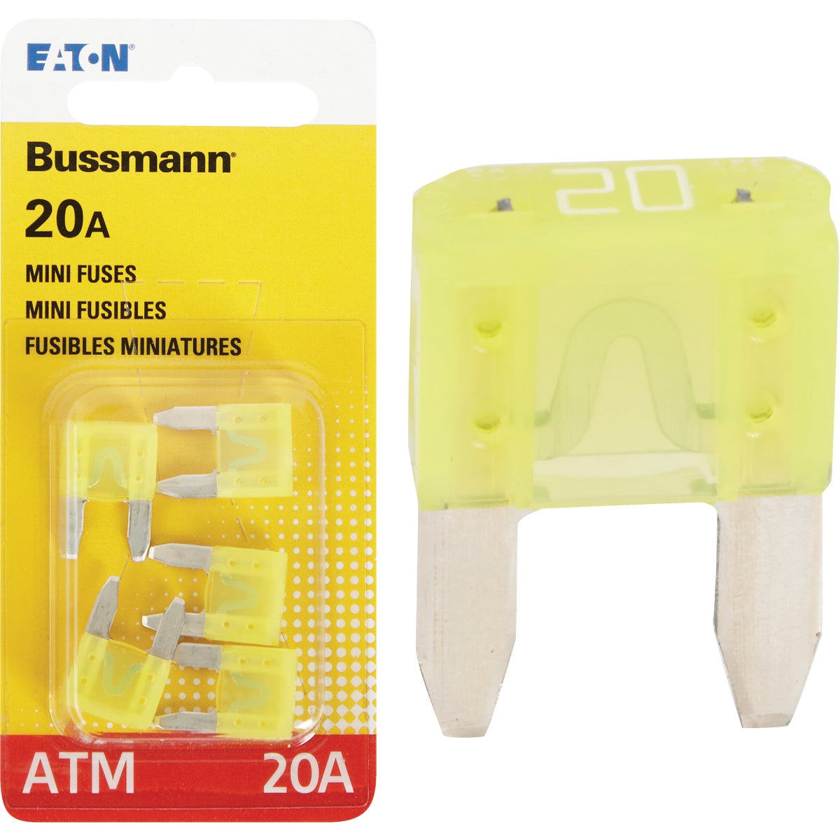 20AMP MINI FUSE - BP/ATM-20-RP by Bussmann Cooper