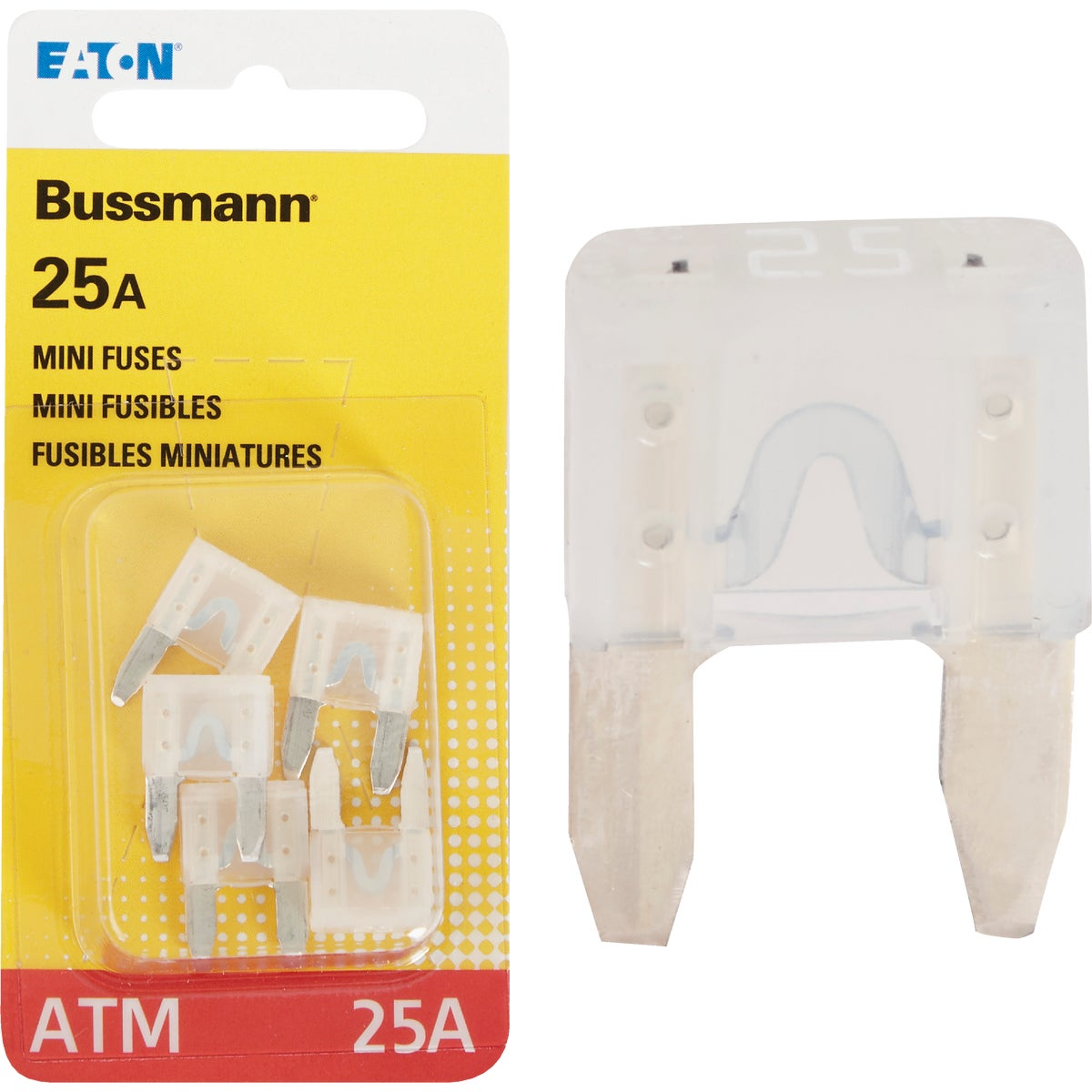 25AMP MINI FUSE - BP/ATM-25-RP by Bussmann Cooper
