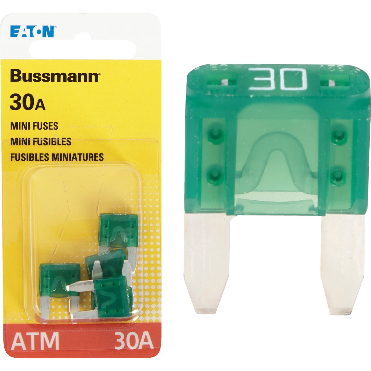 30AMP MINI FUSE - BP/ATM-30-RP by Bussmann Cooper