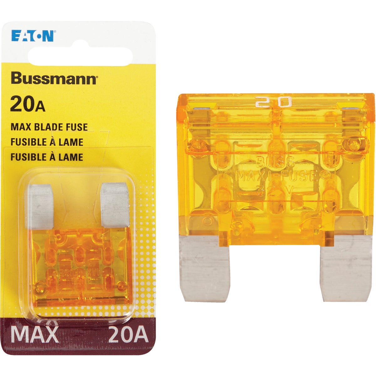 20AMP MAXI FUSE - BP/MAX-20-RP by Bussmann Cooper