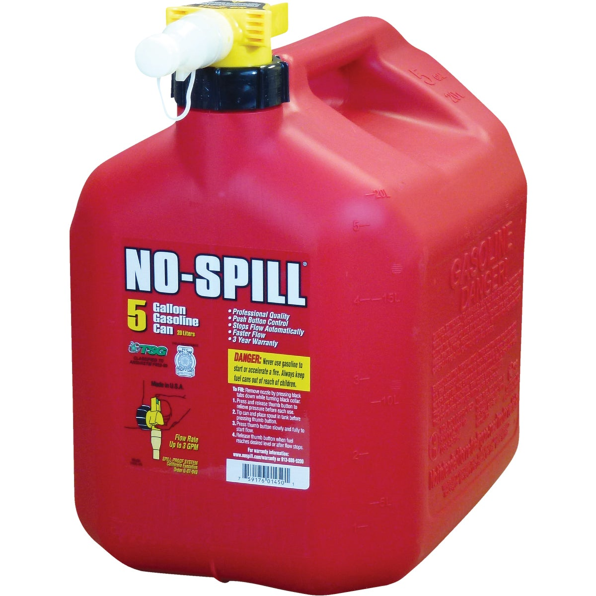 5.0 GAL GAS CAN - 1450 by No Spill Inc