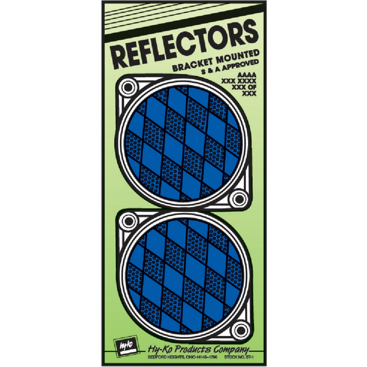 NAIL ON BLUE REFLECTORS - CDRF-3B by Hy Ko Prods Co