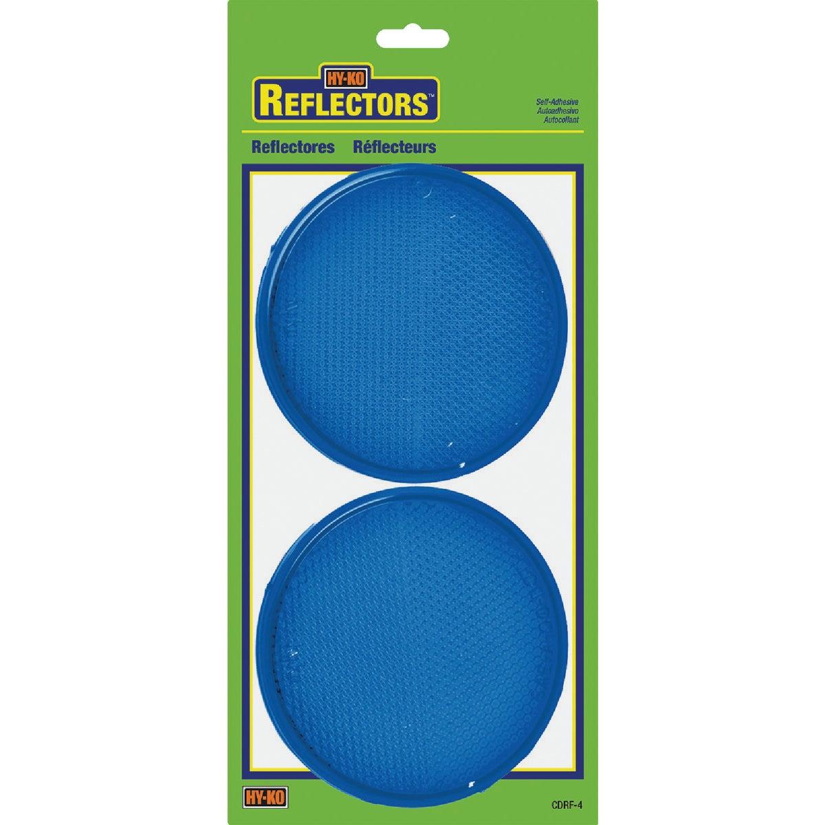 PRESS ON BLUE REFLECTORS