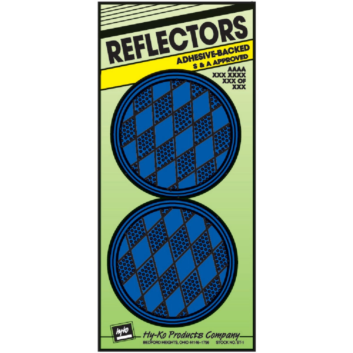 PRESS ON BLUE REFLECTORS - CDRF-4B by Hy Ko Prods Co