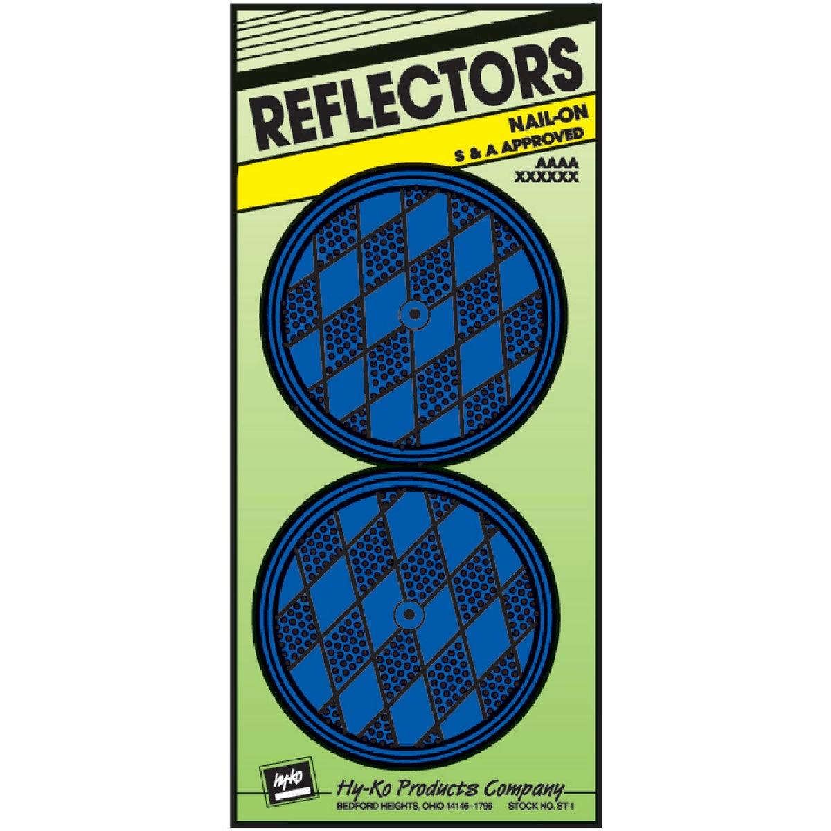 NAIL ON BLUE REFLECTORS - CDRF-5B by Hy Ko Prods Co