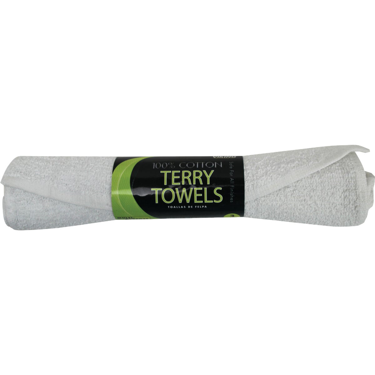 3PK WHITE TERRY TOWELS