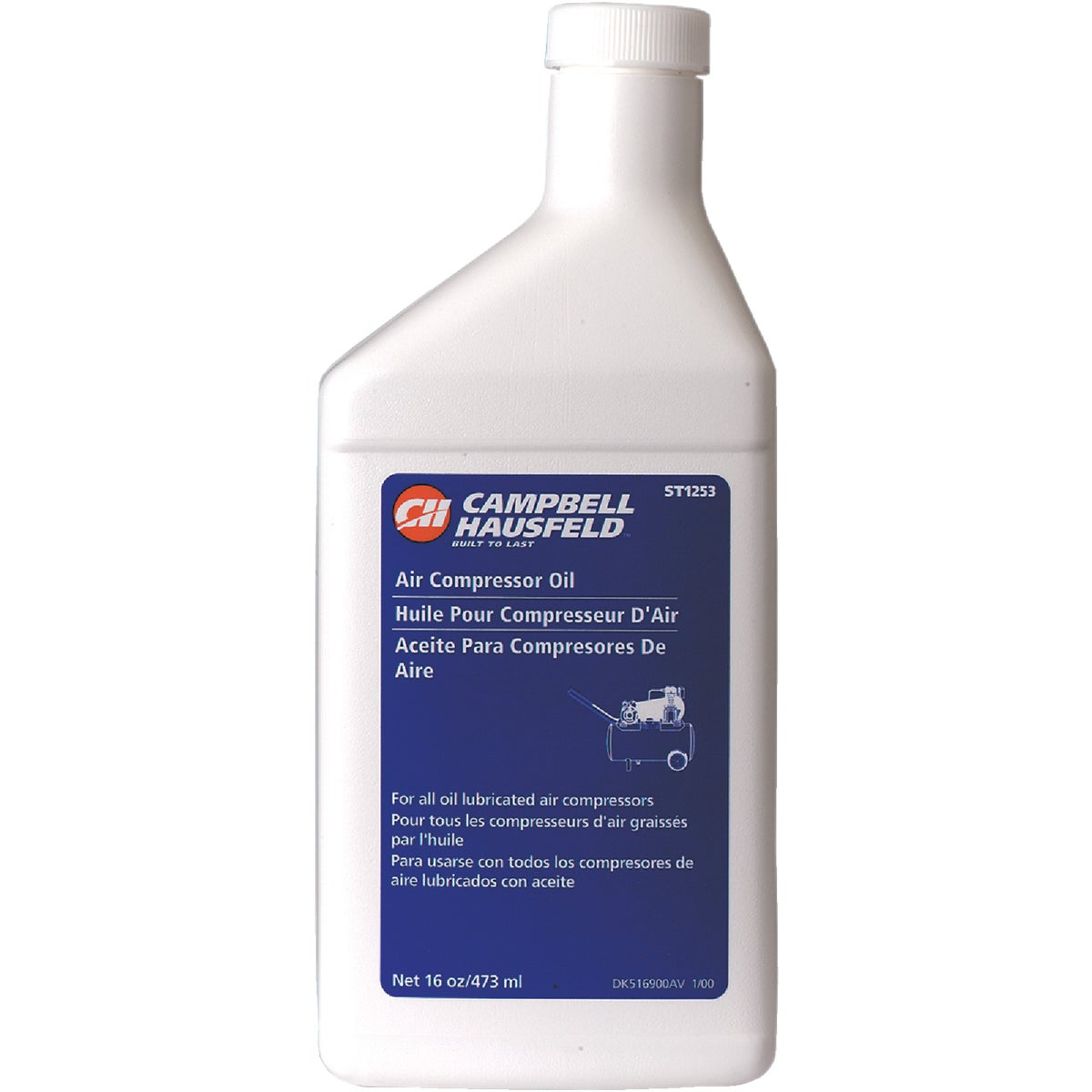 16OZ AIR COMPRESSOR OIL - ST1253 by Campbell Hausfeld Co