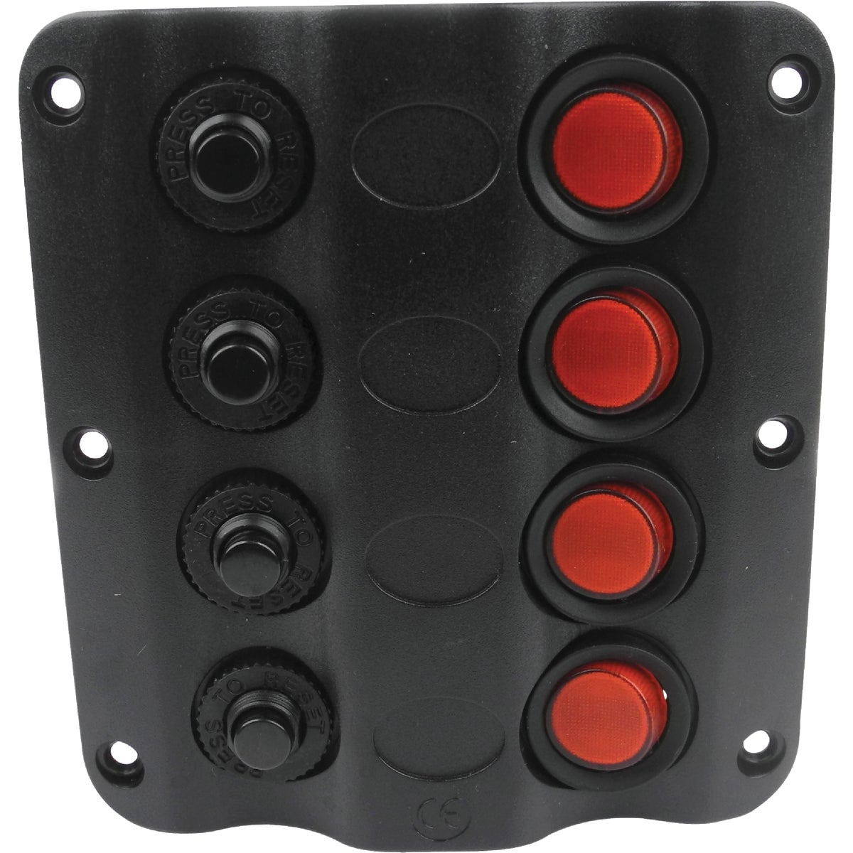 4-GANG LED SWITCH PANEL - 12321 by Seachoice Prod