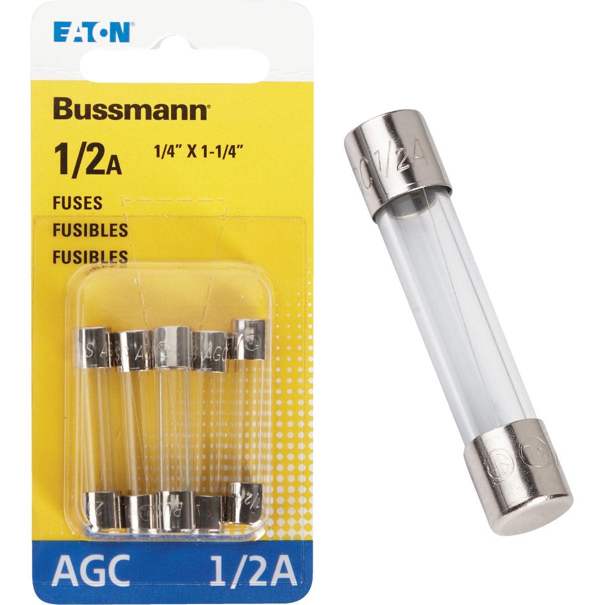 1/2 AMP FUSE - BP/AGC-1-2-RP by Bussmann Cooper