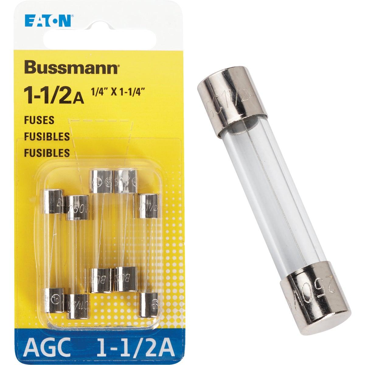 1-1/2 AMP FUSE - BP/AGC-1-1-2-RP by Bussmann Cooper