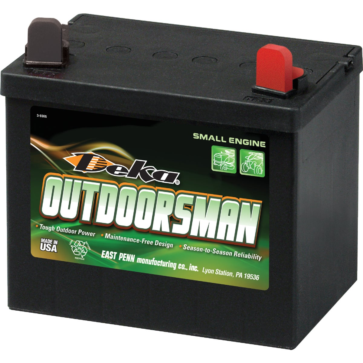 Deka Outdoorsman Small Engine Battery, 8U1R